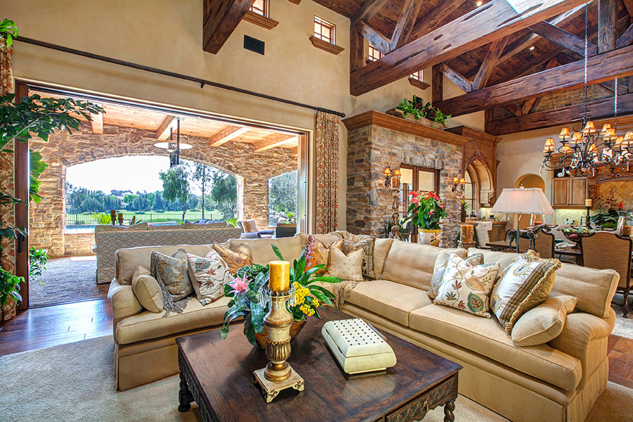 Custom home builders in rancho santa fe richard doan for Luxury outdoor living